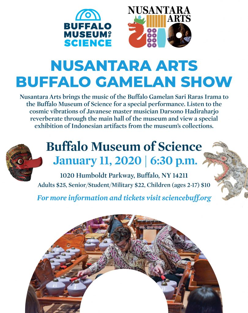 Nusantara Arts Buffalo science museum gamelan show poster